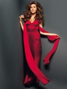 burda style: Damen - Festliche Mode - Abendkleider - Satinkleid - bodenlang