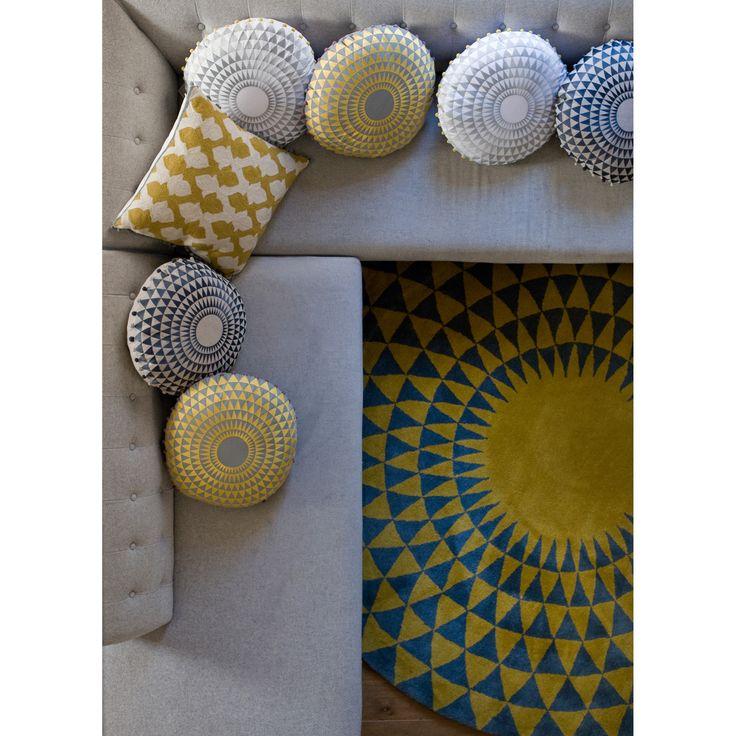 Concentric Cushions Lattice Cushion Rug Niki Jones