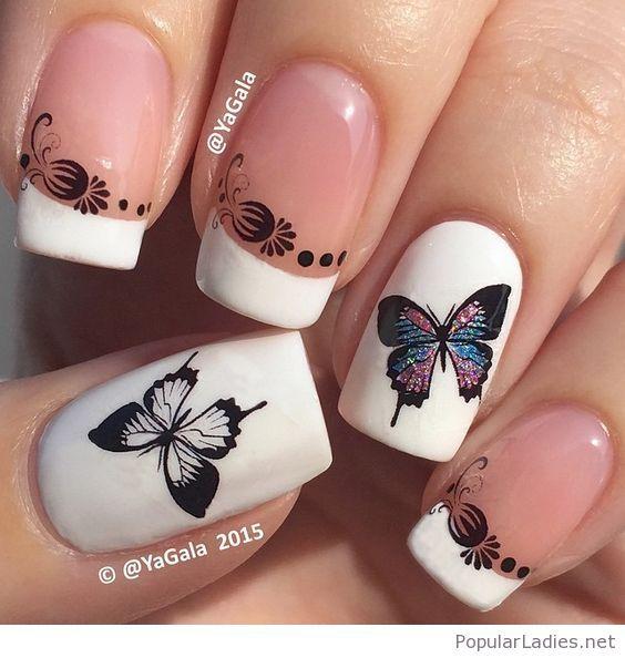 @YaGala (2015) Sweet butterfly manicure