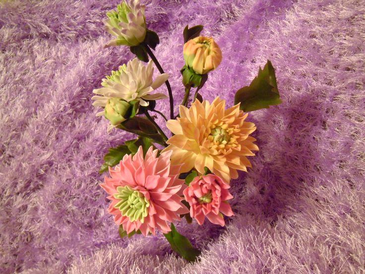 лепка цветов из х.ф.
