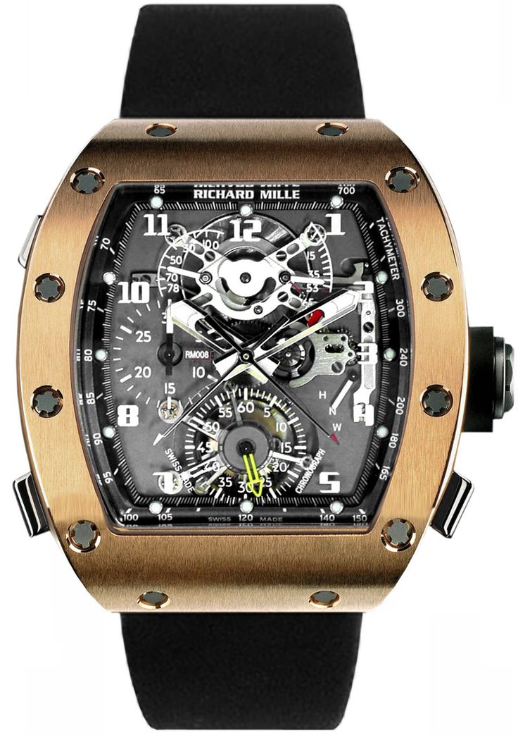 Richard Mille RM 008 Tourbillon Split Seconds Chronograph Mens Watch Model: RM008-V2-RG