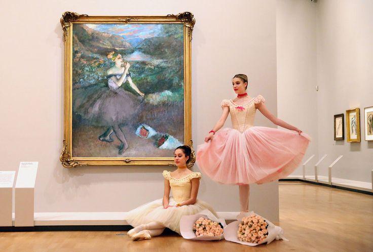 Real Ballerinas Pose Alongside Degas' Iconic Dance Paintings