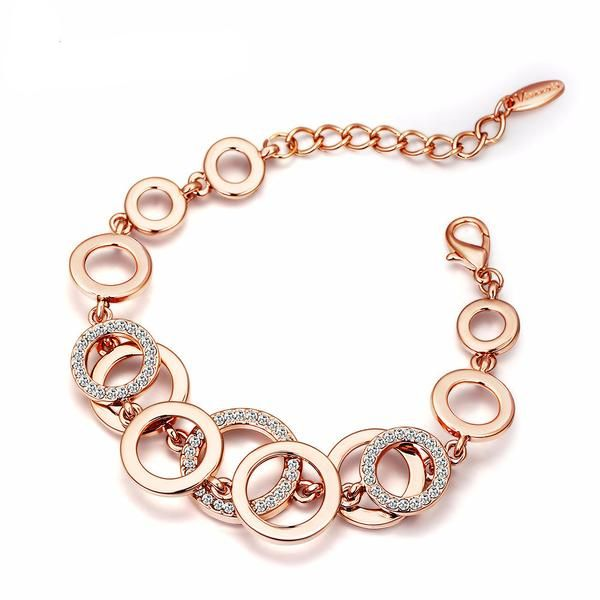 Gold Plated Rose Bracelet. Up To 75% OFF + FREE SHIPPING!  #Bracelet #FreeShipping #DazzlingSeaJewelry