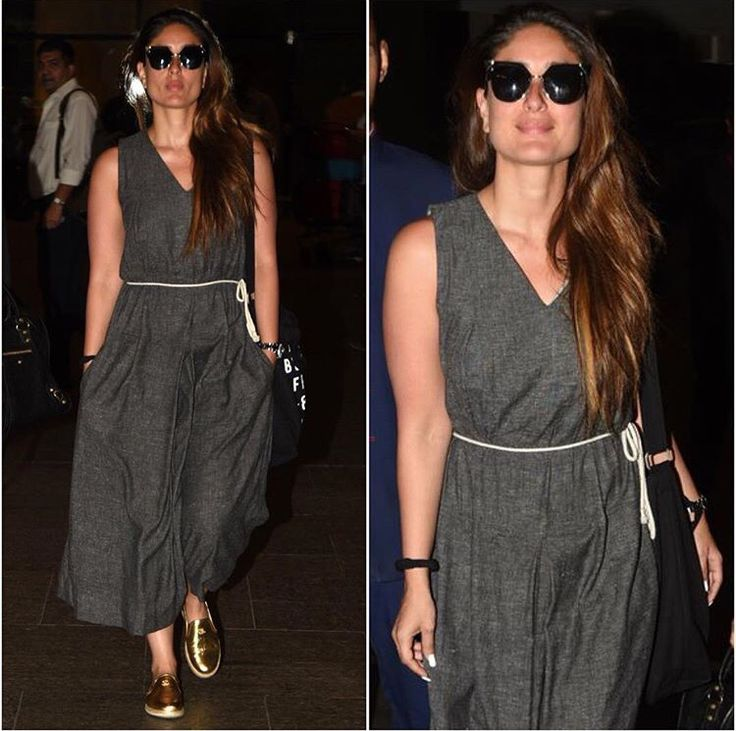 Kareena Kapoor # casual Day out travel look # Indian fashion