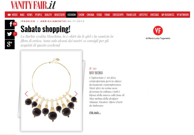 Gea Sphere necklace.. may mOma on VANITYFAIR.IT