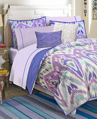 Teen Vogue Bedding, Ikat Stripe Comforter Sets - Bedding Collections - Bed & Bath - Macys