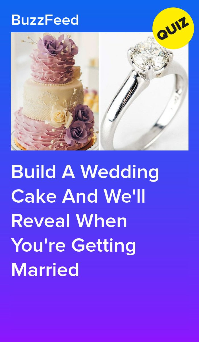Build A Wedding Cake And We'll Reveal When You're Getting