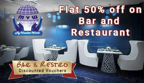 Make the ideal treat for every #occassion! Bar and Restro discounted vouchers Flat 50% off