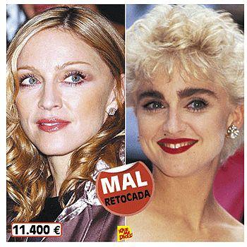 Famosas sin maquillaje(antes y despues) Madonna