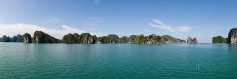 Bay with Cliffs in the Background, Halong Bay, Vietnam Photographic Print by Panoramic Images at AllPosters.com