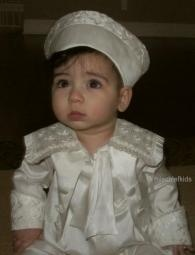 A1772 Montgomery Little Darlings Fontleroy Christening Romper....click to enlarge