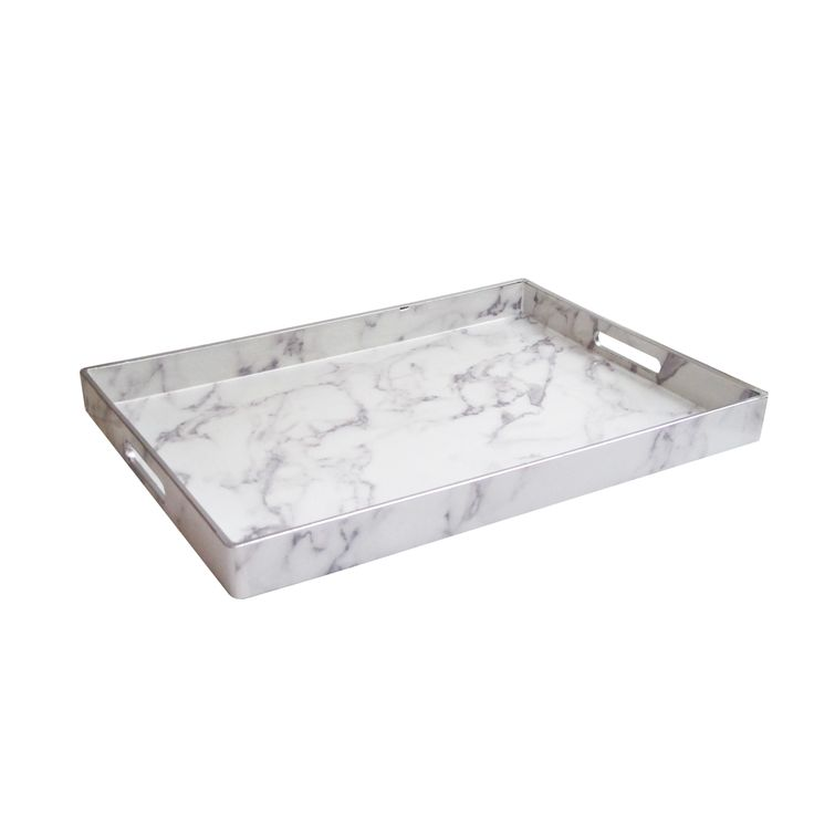 """Accents by Jay White//Silver Serving Tray 14X19"""""""