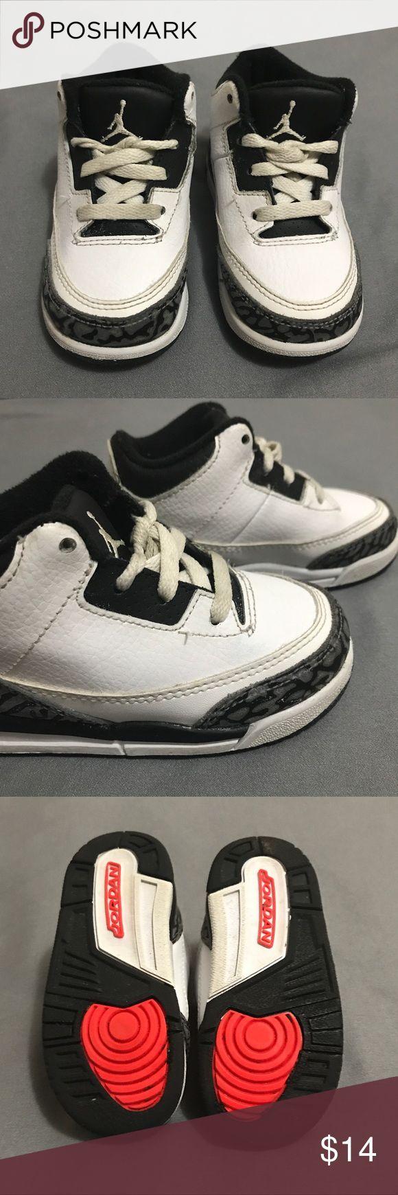 Kids Jordan's shoe Cement 3s Good condition kids Jordan, Cement 3s. Bundle and save!!! Jordan Shoes Sneakers
