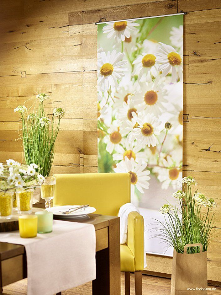 textilbanner f r schaufenster thema fr hling sommer margerite pflanze 180cmx75cm