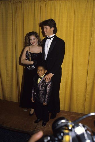 Drew Barrymore, Kirk Cameron and Emmanuel Lewis at