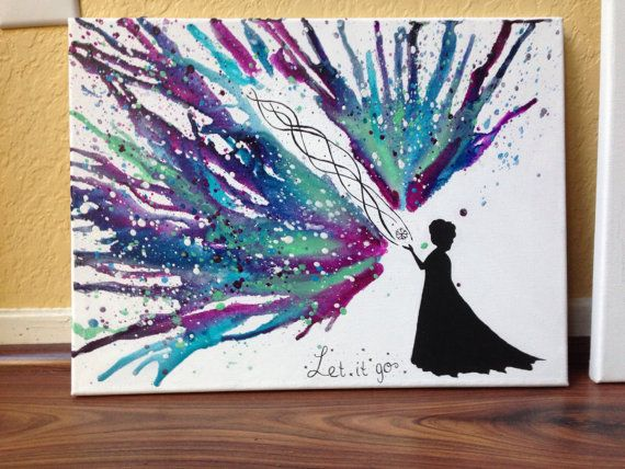 Disney's Frozen themed Melted Crayon Art by CrayonGogh on Etsy