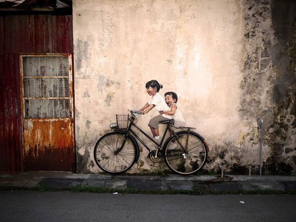 by Ernest Zacharevich    Ernest Zacharevich is a young street artist who currently lives in George Town, Penang in Malaysia.