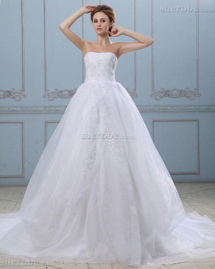 Robe de mariée serieuse satin extensible de bustier manche nulle de princesse