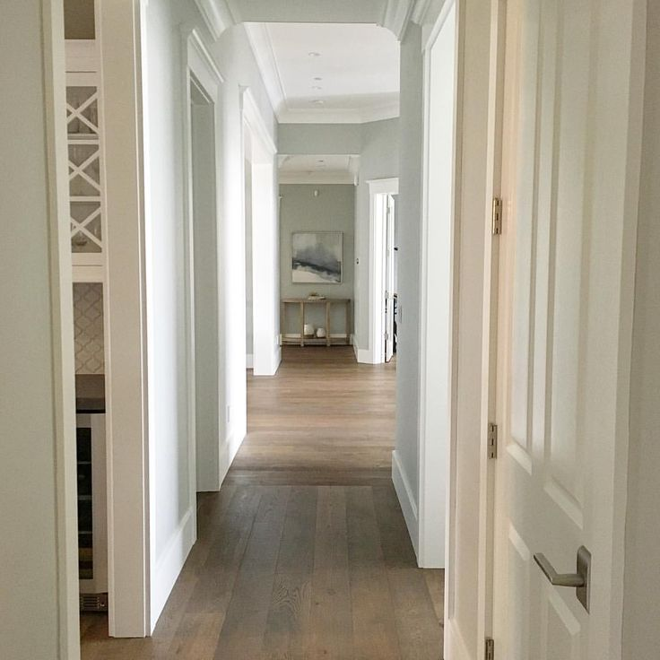 Trim is simply white and walls are dolphin fin by behr - Federal style interior paint colors ...