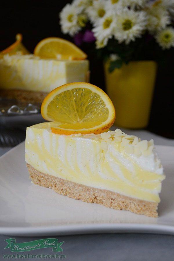 Cheesecake cu vanilie si portocale-2