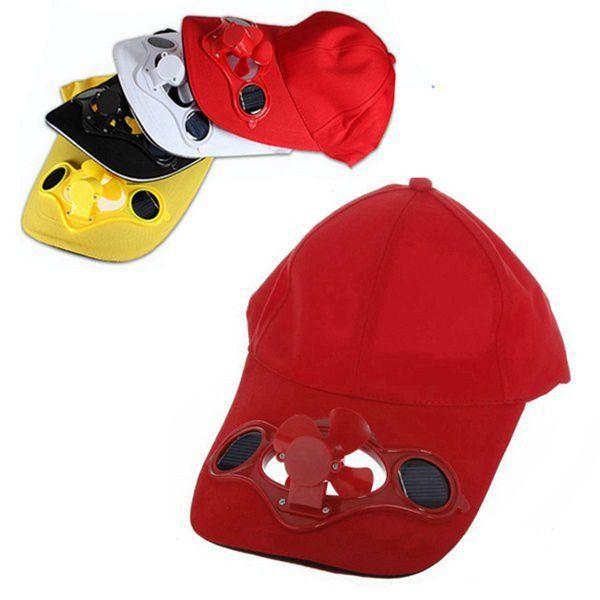 Summer Sport Outdoor Hat Cap with Solar Sun Power Cool Fan - GhillieSuitShop
