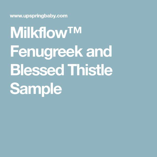 Milkflow™ Fenugreek and Blessed Thistle Sample