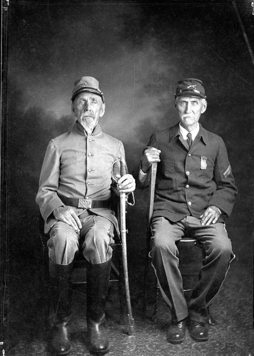 """""""Brother vs. Brother, Richwood, West Virginia, 1910s"""" by Finley Taylor, Early Appalachian Photographer.     """"America has no north, no south, no east, no west. The sun rises over the hills and sets over the mountains, the compass just points up and down, and we can laugh now at the absurd notion of there being a north and a south. We are one and undivided."""" ~Pvt. Sam Watkins, 1st Tennessee, Co. H."""