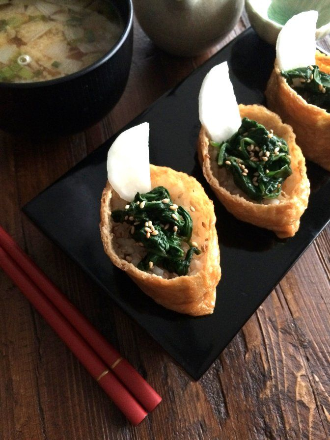 Spinach Inarizushi ほうれん草いなり寿司 | The Culinary Chronicles #Food #Recipe #yum