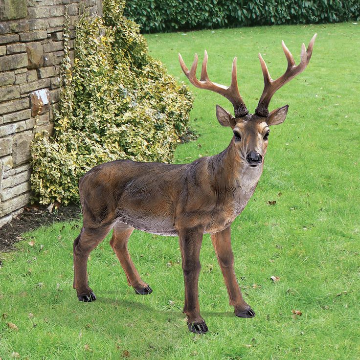 "Design Toscano 24½"" Hand Painted Big Rack Buck Deer Indoor Outdoor Statue #DesignToscanoExclusive"