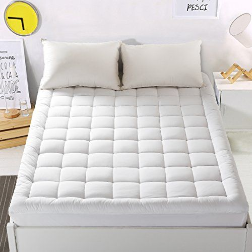 Twin XL Size Mattress Pad Cover Memory Foam Top Cooling Overfilled Bed Topper