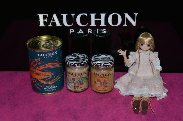 ロブスタースープ(ビスク・ド・オマール) と リエット(ヤギのチーズと鯖 / ホタテ) #FAUCHON