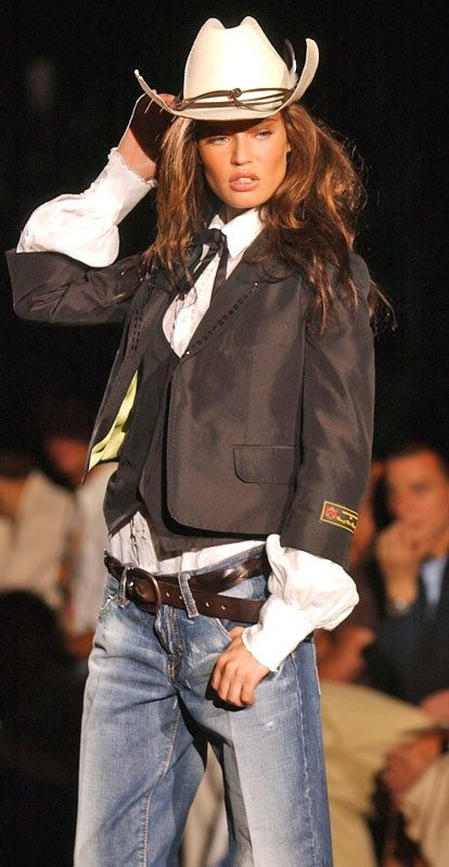 Bianca Balti (minus the hat and jeans, maybe with a black chic skirt or long tailored pants)