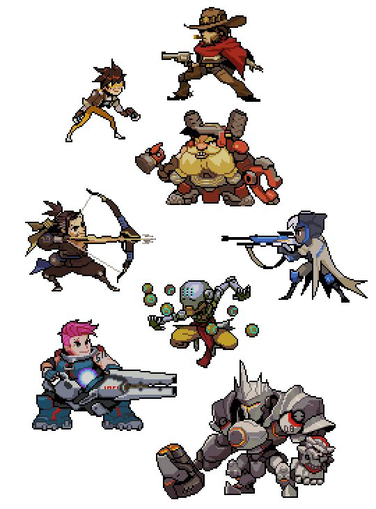 To celebrate the second day of BlizzCon 2016, here are the pixel sprays you can earn as achievements in Overwatch.