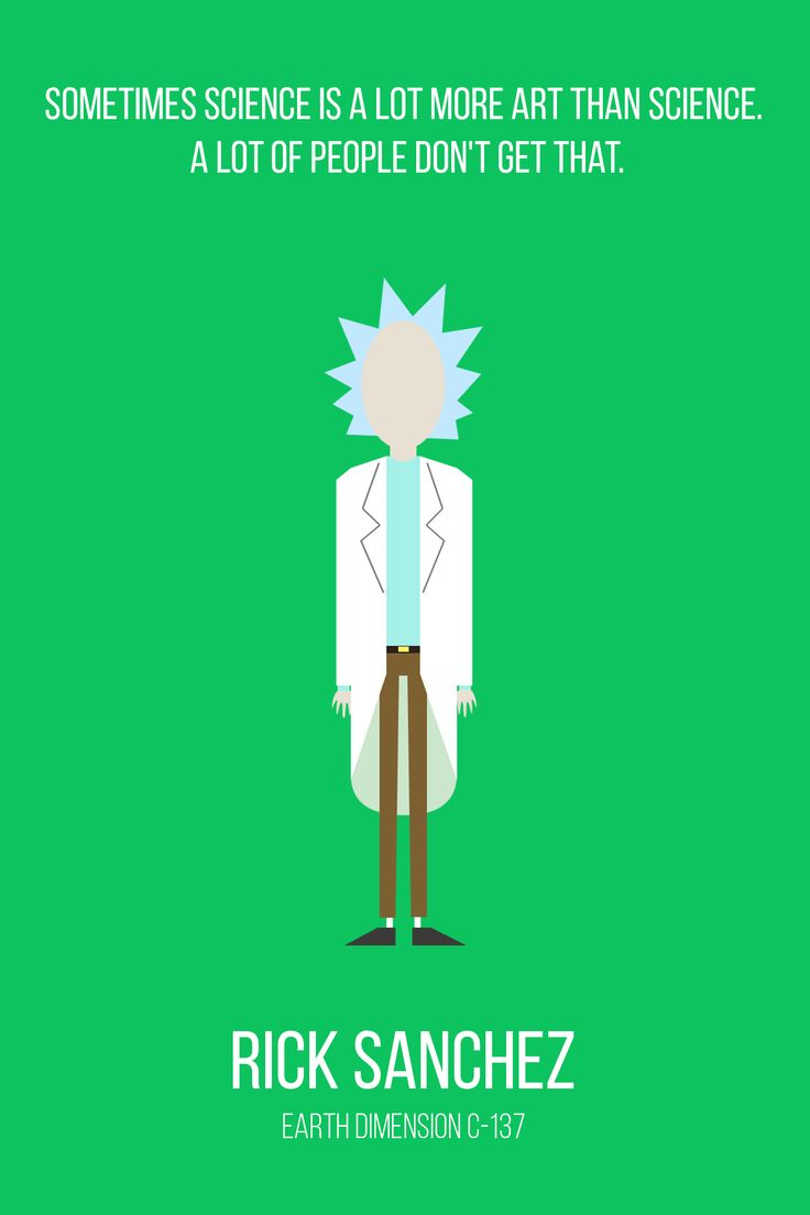 My minimalist rick and morty character collection album for Minimal art reddit
