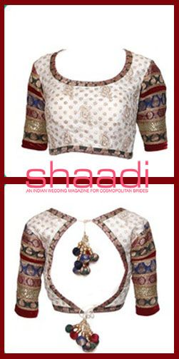 The simple choli has become a high fashion statement #Sareeblouse #Shaadimagazine