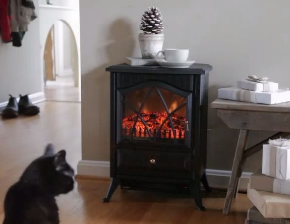 Electric wood stove and Outdoor electric heater