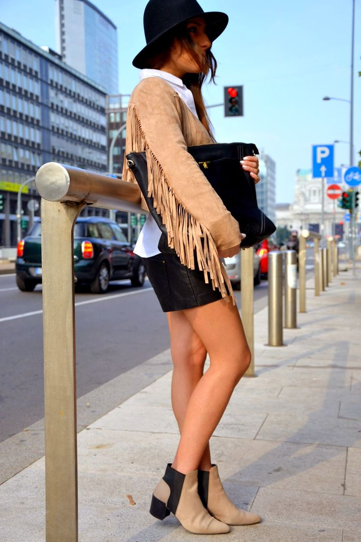 Camel Fringed Jacket