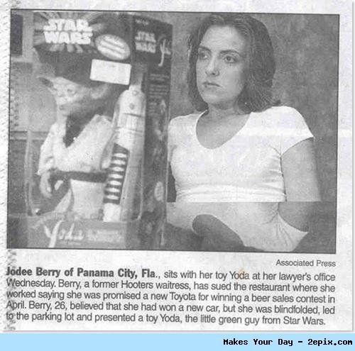 Woman Thought She Won a Toyota, Not a Toy Yoda.. haha!Toys Yoda, Laugh, Stars Wars, Funny Stuff, Humor, Things, Hilarious, Funnystuff, Toyota