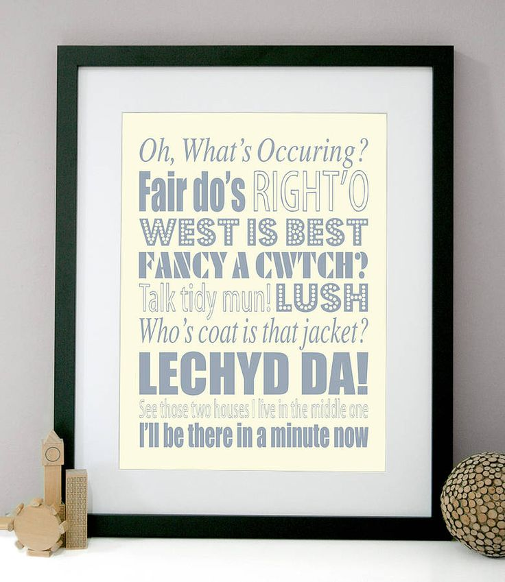 personalised welsh sayings print by modo creative | notonthehighstreet.com