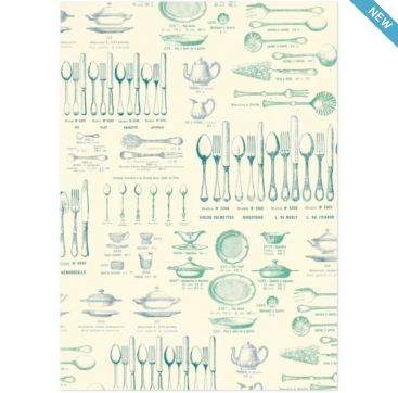 Knives & Forks - wrapping paper from Cavallini & Co. Available at Bobangles.