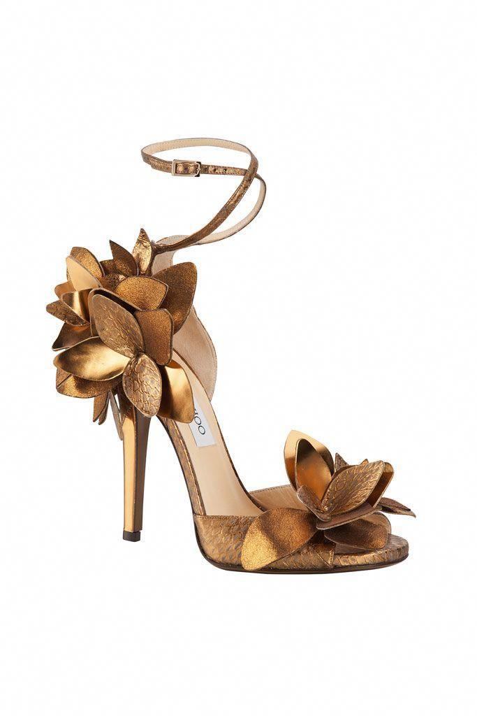 596f45236754 Jimmy Choo golden floral Sandal  JimmyChoo