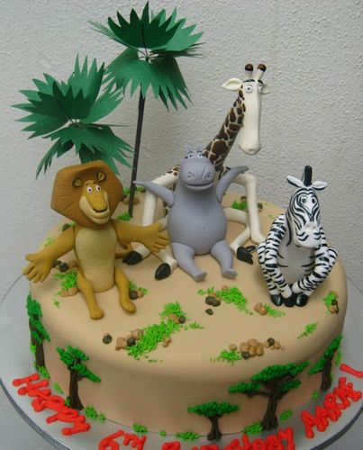 Tortas Decoradas de Madagascar |Ideas y decoración de fiestas ...