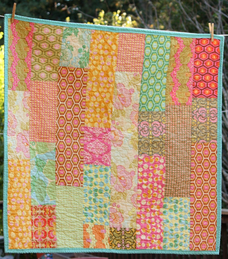 Midwest Modern Baby Quilt Amy Butler Fabric by StarlitNestGifts