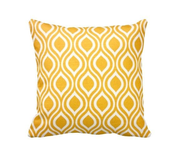7 Sizes Available: Yellow Cushion Cover Yellow by ReedFeatherStraw