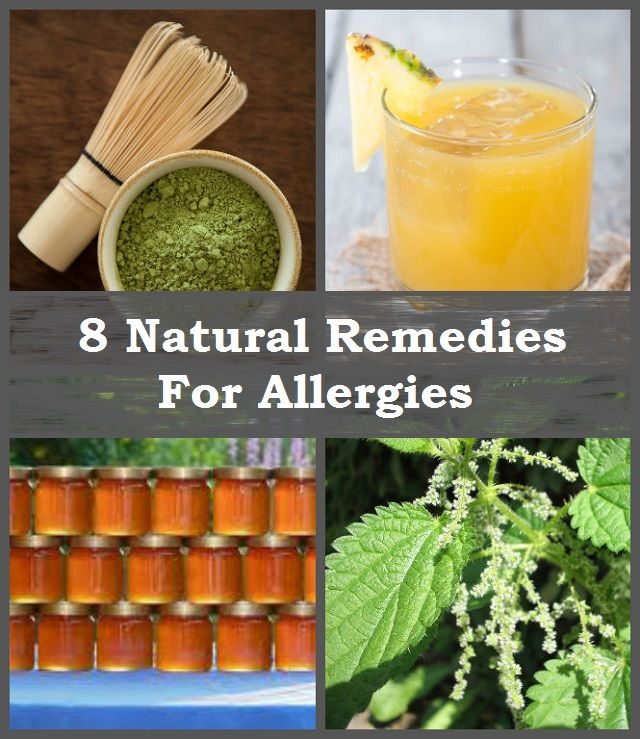 8 Natural Remedies for Allergies  http://www.naturallivingideas.com/8-natural-remedies-for-allergies/