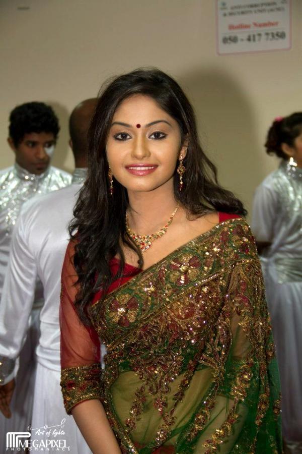 Shritha Sivadas Cute Saree Stills
