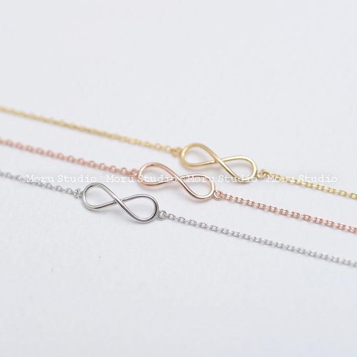 Tiny Infinity Bracelet/ Bridesmaids Bracelet, Bridesmaid Gift, Dainty Mini Infinity Bracelet, Friendship Bracelet, Classy Infinity BIF043 by MoruStudio on Etsy