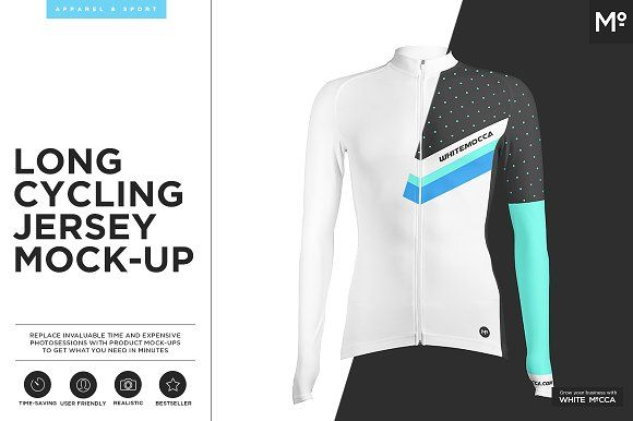 Long Cycling Jersey Mock-up by Mocca2Go/mesmeriseme on @creativemarket