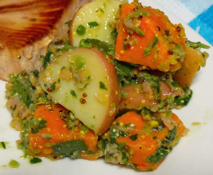 Recipe HUNTERS Bacon & Mustard Sweet Potato Salad by Cozzy - Recipe of category Side dishes