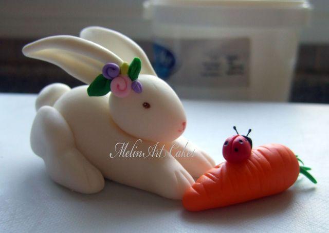 Rabbit Cake Decor : Easter Bunny Tutorial - by Melinartcakes @ CakesDecor.com ...
